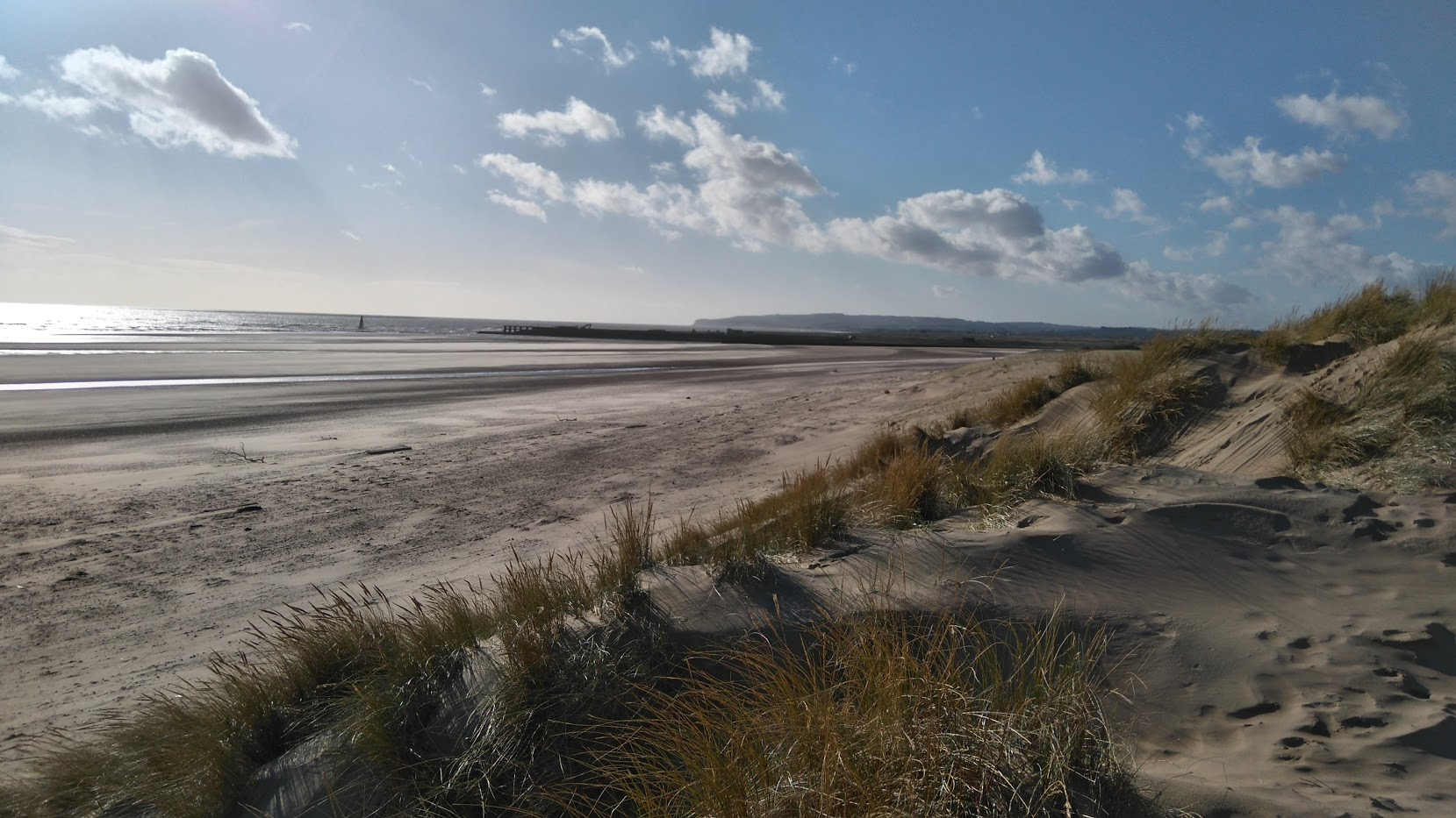 Camber sands - a winter scene